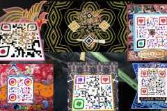 Seniman merancang QR Code bermotif batik